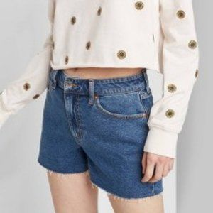 High-Rise Mom Jean Shorts - Wild Fable